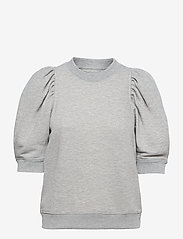 Second Female - Dawni Sweat Tee - stickade toppar - grey melange - 1