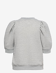 Second Female - Dawni Sweat Tee - stickade toppar - grey melange - 2