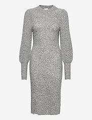 Second Female - Mika Knit Dress - vardagsklänningar - grey melange - 0