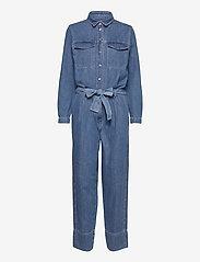 Second Female - Ingrid Jumpsuit - kläder - blue denim - 1