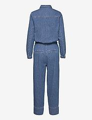 Second Female - Ingrid Jumpsuit - kläder - blue denim - 2