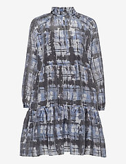Second Female - Imprint Dress - vardagsklänningar - blue shadow - 1