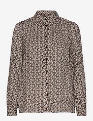 Second Female - Frank Shirt - långärmade skjortor - black - 1