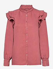 Second Female - Bella New Shirt - långärmade blusar - roan rouge - 0