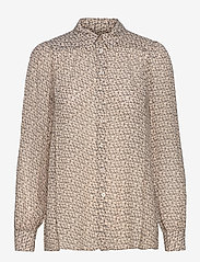 Second Female - Lacing Shirt - långärmade skjortor - cement - 1