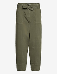Second Female - Terry Trousers - casual byxor - olive night - 0