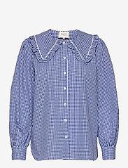 Second Female - Toto Shirt - långärmade blusar - deep ultramarine - 0