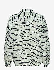 Second Female - Tiger Shirt - långärmade skjortor - clearly aqua - 1