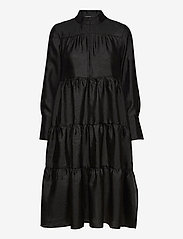 Second Female - Rosalina Midi Dress - hverdagskjoler - black - 0