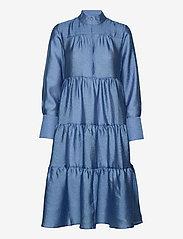 Second Female - Rosalina Midi Dress - vardagsklänningar - blue bonnet - 0