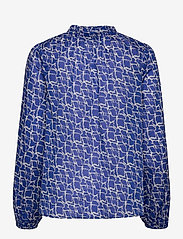 Second Female - Dayly Simple Shirt - långärmade blusar - deep ultramarine - 1