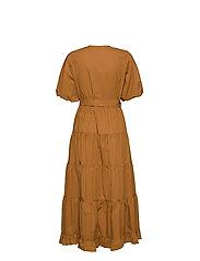 Second Female - Athena Midi Dress - vardagsklänningar - bronze brown - 2