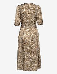 Second Female - Granada Wrap Dress - sommarklänningar - bronze brown - 2