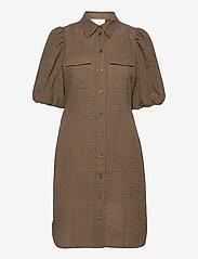 Second Female - Bilbao Mini Dress - sommarklänningar - stone green - 1