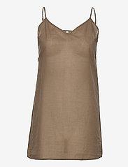 Second Female - Bilbao Mini Dress - sommarklänningar - stone green - 3