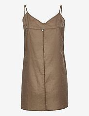 Second Female - Bilbao Mini Dress - sommarklänningar - stone green - 4