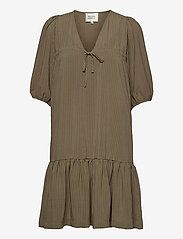 Second Female - Tara Dress - sommarklänningar - stone green - 1