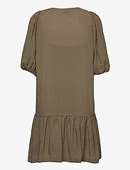 Second Female - Tara Dress - sommarklänningar - stone green - 2