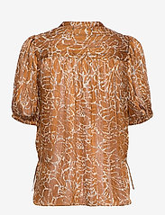 Second Female - Fijito Shirt - kortärmade blusar - bronze brown - 1