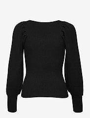 Second Female - TINE ANDREA & DARJA x SECOND FEMALE Bodine Knit V-Neck - tröjor - black - 1