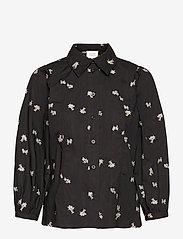 Second Female - California Shirt - långärmade blusar - black - 0