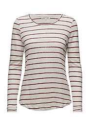 Peggy LS O-Neck Tee - POMEGRANATE