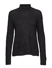Brook Knit Rib New T-neck - BLACK