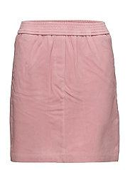 Adina Suede Skirt - Blush