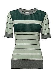 Salmi Ss Knit - SUBTLE GREEN