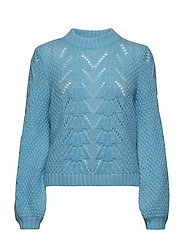 Tali Knit O-neck - BLUE TOPAZ