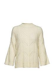 Pomme Knit O-neck - OFF WHITE