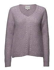 Lula Knit V-neck - ENGLISH LAVENDER