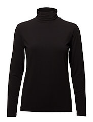 Manika LS T-Neck Tee - BLACK