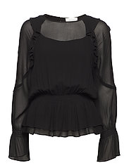 Rikka Smock Blouse - BLACK
