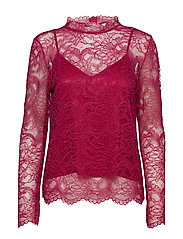 Baldrina Blouse - FUCHSIA RED