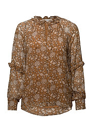 Mindy Balloon Blouse - SUDAN BROWN