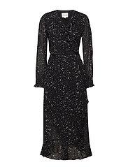 Larvikit Wrap Dress - BLACK