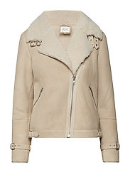 Mondel Shearling Jacket - OFF WHITE