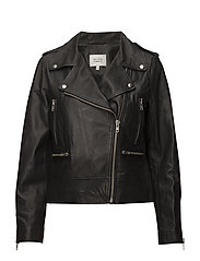Metin Leather Jacket - BLACK