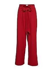 Patti HW Trousers - RED DAHLIA