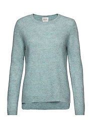 Brook Knit New O-Neck - AQUA HAZE