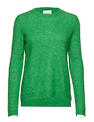 Brook Knit New O-Neck - MEDIUM GREEN