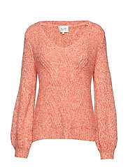 West Knit V-Neck - GOSSAMER PINK