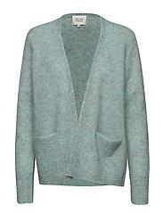 Brook Knit New Short Cardigan - AQUA HAZE