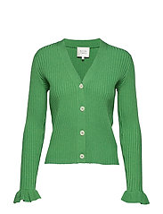 Mariella Knit Cardigan - MEDIUM GREEN