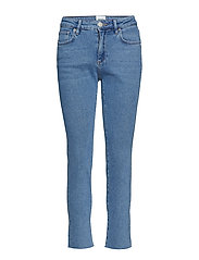 Sille HW Jeans - BLUE DENIM