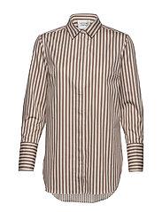 Dane Stripe Shirt - TIGER`S EYE