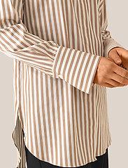 Second Female - Dane Stripe Shirt - long-sleeved shirts - tiger`s eye - 5