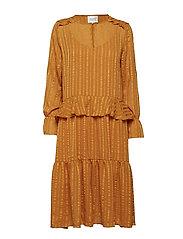 Honey Midi Dress - BLAZING ORANGE