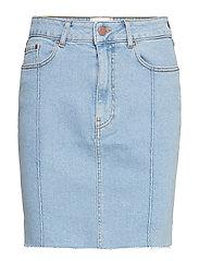 Uma HW Denim Skirt - LIGHT BLUE DENIM